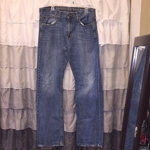 3 American eagle jeans 34x36 long length Bundle